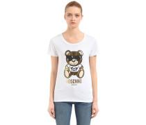 T-SHIRT AUS BAUMWOLLE 'GOLD TEDDY BEAR'