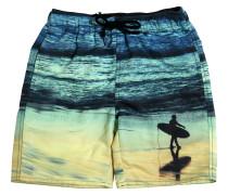 BADESHORTS AUS NYLON MIT SURFER-DRUCK