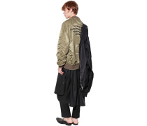 OVERSIZE EMBROIDERED NYLON BOMBER JACKET