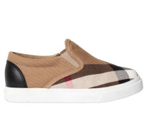 SLIP-ON-SNEAKERS AUS CANVAS MIT KAROS