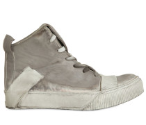 HOHE SNEAKERS AUS NAPPALEDER IM DIRTY-LOOK