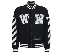 COLLEGEJACKE AUS WOLLE