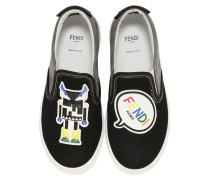 SLIP-ON-SNEAKERS AUS WILDLEDER UND MESH 'MONSTER'