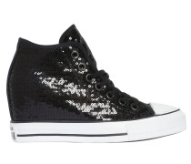 80MM HOHE WEDGE-SNEAKERS MIT PAILLETTEN 'ALL STAR'
