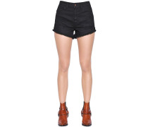 SHORTS AUS BAUMWOLLDENIM IM DESTROYED-LOOK
