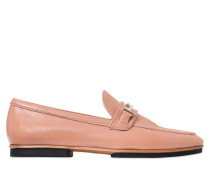 10MM HOHE LEDERLOAFERS MIT DOPPEL-T