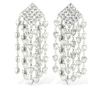 CRYSTAL HEART CASCADE CLIP-ON EARRINGS