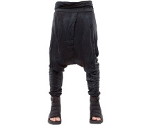 RESIN COATED WRINKLED JERSEY PANTS
