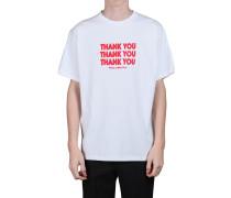 T-SHIRT AUS BAUMWOLLJERSEY MIT DRUCK 'THANK YOU'