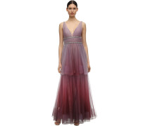 GRADIENT TULLE GOWN