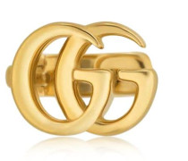 MONO-OHRRING AUS 18KT GELBGOLD 'GG'