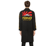 LANGER BESTICKTER STOFFMANTEL 'TOKIO'