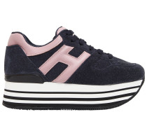70MM HOHE SNEAKERS AUS WILDLEDER 'MAXI 222'