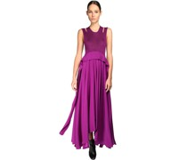 VISCOSE & SILK LONG DRESS