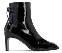 80MM PATENT LEATHER ANKLE BOOTS