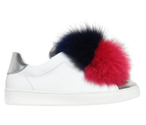 SLIP-ON-SNEAKERS AUS NAPPALEDER MIT PELZ