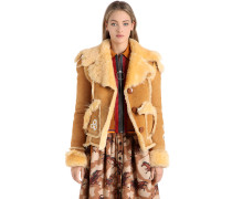 JACKE AUS SHEARLING MIT PATCHES