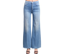 TOMCAT ROLLED WIDE LEG HIGH JEANS