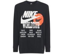 T-SHIRT MIT DRUCK 'WORLD TOUR'