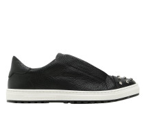 SLIP-ON SNEAKERS AUS LEDER MIT NIETEN
