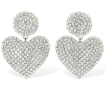 CRYSTAL HEART CLIP-ON EARRINGS