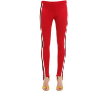 LEGGINGS AUS TECHNOJERSEY MIT WEBSTREIFEN