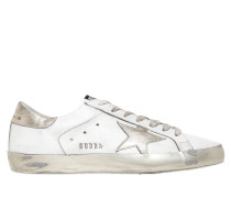 SNEAKERS AUS LEDER & METALLIC-LEDER 'SUPER STAR'