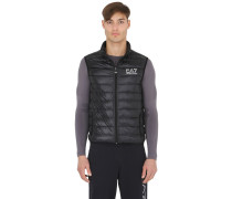 NYLON PACKABLE QUILTED DOWN VEST