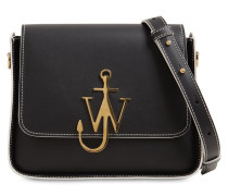 ANCHOR LOGO LEATHER SHOULDER BAG