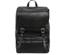 MINI RUKSACK AUS LEDER 'MY JOLLY TOTAL BLACK'