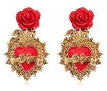 CLIP-ON-OHRRINGE 'ROSE & HEART'