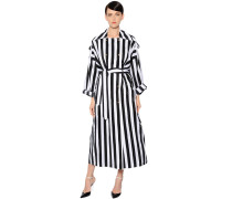 STRIPED PARACHUTE TRENCH COAT