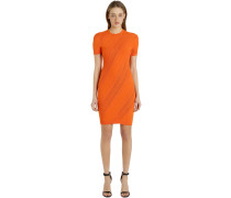 PERFORIERTES KLEID AUS STRETCH-JACQUARD