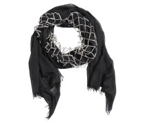 MODAL SCARF WITH LEATHER NET