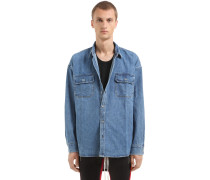 OVERSIZED HEMD AUS DENIM