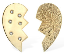 HEART LEAVED MISMATCHED EARRINGS