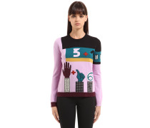 PULLOVER AUS WOLLMISCHUNG 'COUNTING 6'