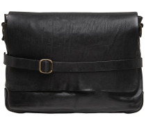 VINTAGE EFFECT LEATHER MESSENGER BAG
