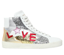 10MM HOHE LEDERSNEAKERS 'COURT CLASSIC LOVE'