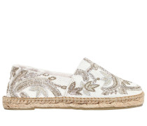 10MM BEADED COTTON ESPADRILLES