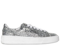 GLITZERSNEAKERS MIT PLATEAUSOHLE