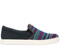 SLIP-ON-SNEAKERS AUS ELASTIK UND WILDLEDER