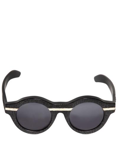 kuboraum herren runde sonnenbrille mit struktur und. Black Bedroom Furniture Sets. Home Design Ideas