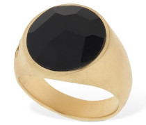 ONYX STONE THICK PINKY RING