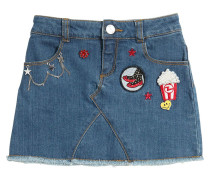 ROCK AUS STRETCH-DENIM MIT PATCHES