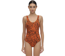 FOR A RAINY DAY TIGER ONE PIECE SWIMSUIT