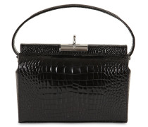 MILKY CROC EMBOSSED LEATHER BAG