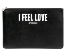 GROßER LEDERBEUTEL MIT ' I FEEL LOVE'-DRUCK