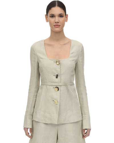 MARTINA LINEN TWILL JACKET