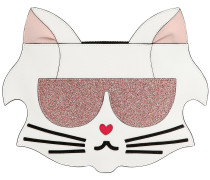 CLUTCH AUS KUNSTLEDER 'KARL CAT FUN FACE'